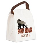 Honey Badger BAMF Canvas Lunch Bag