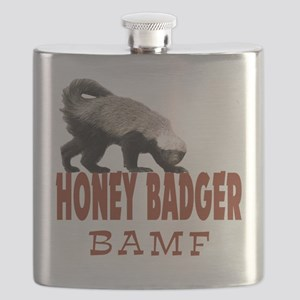 Honey Badger BAMF Flask