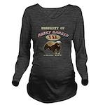 Property of Honey Badger Long Sleeve Maternity T-S