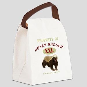 Property of Honey Badger Canvas Lunch Bag