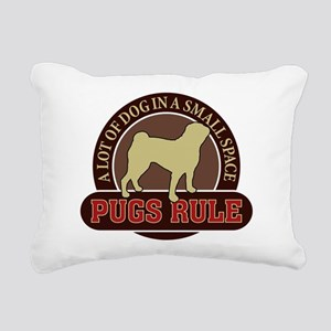 Pugs Rule - Rectangular Canvas Pillow