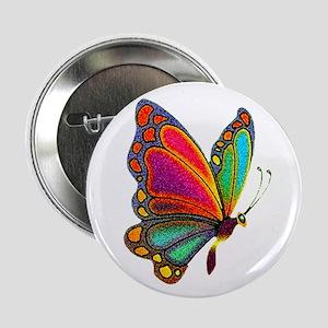 Rainbow Butterfly Button