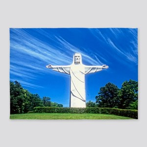 Christ of the Ozarks 5'x7'Area Rug