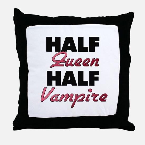 Half Queen Half Vampire Throw Pillow