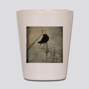 Halloween Crow Shot Glass