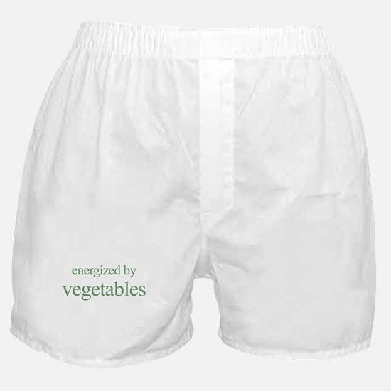energized by vegetables Boxer Shorts