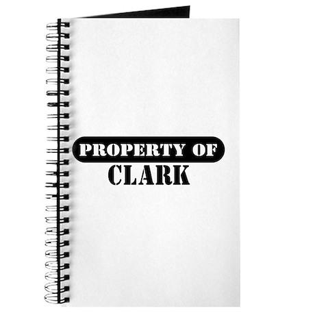Property of Clark Journal