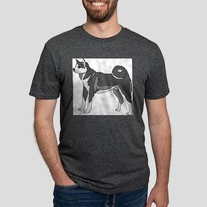 Akita dog Mens Tri-blend T-Shirt
