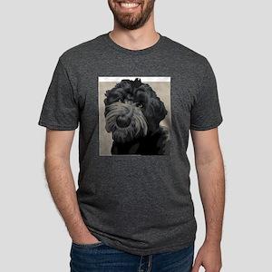 Black Russian Terrier Mens Tri-blend T-Shirt