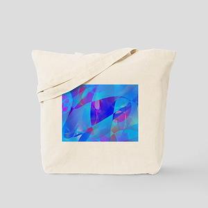 Blue Plankton Art Tote Bag