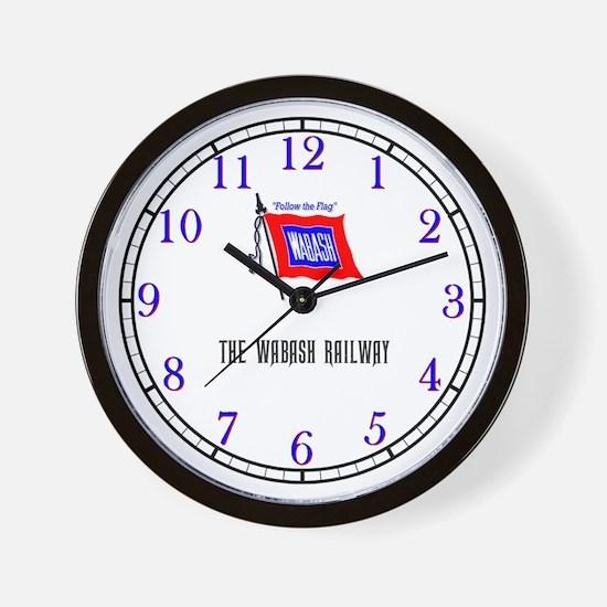 Wabash Railway Wall Clock