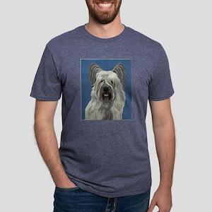 Skye Terrier Mens Tri-blend T-Shirt