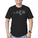 The Quadratic Formula Awesome Math Men's Fitted T-