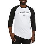 The Quadratic Formula Awesome Math Baseball Jersey