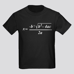 The Quadratic Formula Awesome Math Kids Dark T-Shi