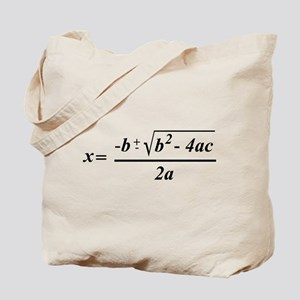 The Quadratic Formula Awesome Math Tote Bag