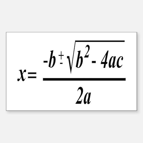 The Quadratic Formula Awesome Math Decal