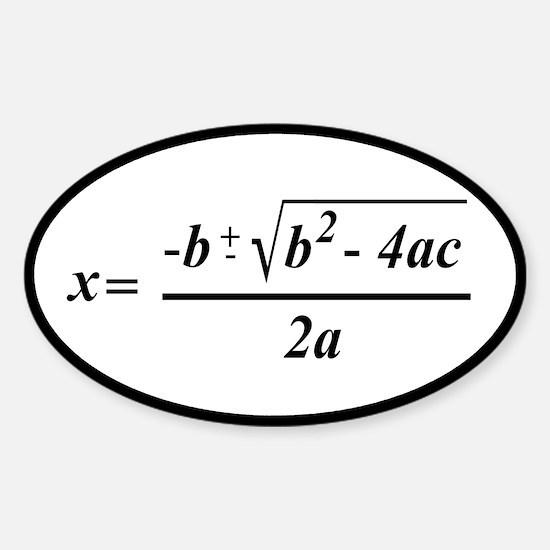 The Quadratic Formula Awesome Math Sticker (Oval)