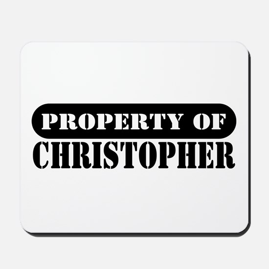 Property of Christopher Mousepad