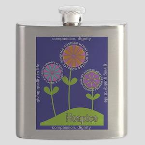 Hospice Blanket Flowers Flask