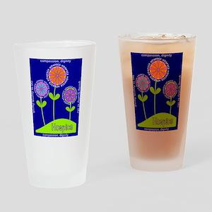 Hospice Blanket Flowers Drinking Glass