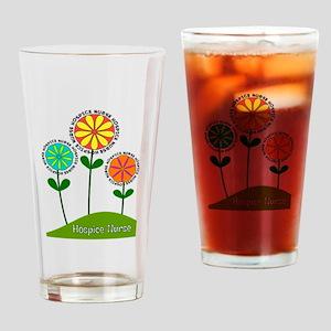 Hospice Nurse Flowers Drinking Glass