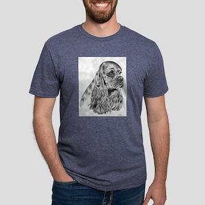 Cocker Spaniel Mens Tri-blend T-Shirt