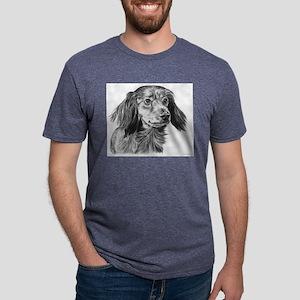 long haired dachshund Mens Tri-blend T-Shirt