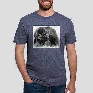 Pekingese Mens Tri-blend T-Shirt
