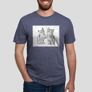 Tabby kittens Mens Tri-blend T-Shirt