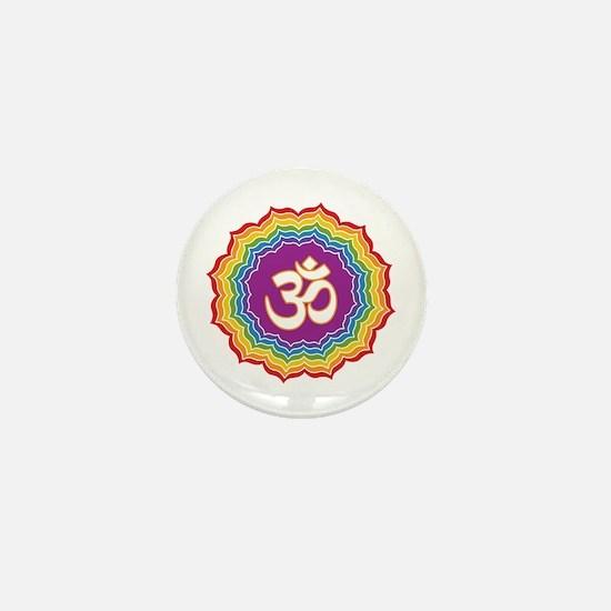Seven Chakras Colors Mini Button