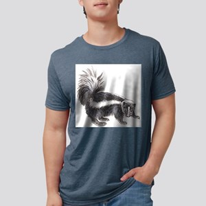 skunk drawing Mens Tri-blend T-Shirt