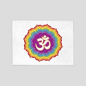 Seven Chakras Colors 5'x7'Area Rug