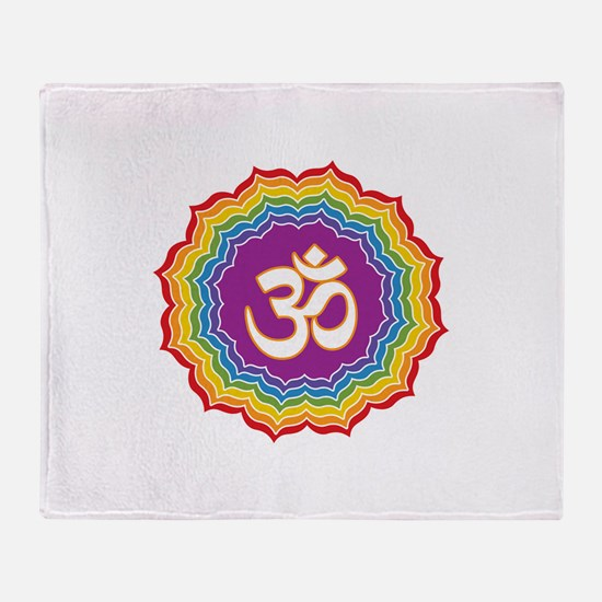 Seven Chakras Colors Throw Blanket