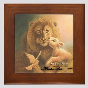 """He is our Peace"" Fine Art Framed Tile"