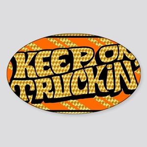 Keep on Truckin' retro design Sticker (Oval)