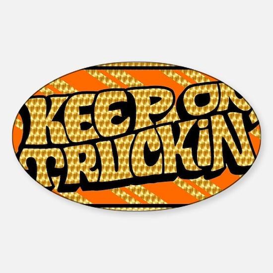 Keep on Truckin' retro design Sticker (Oval)