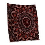 Chocolate Raspberries Burlap Throw Pillow