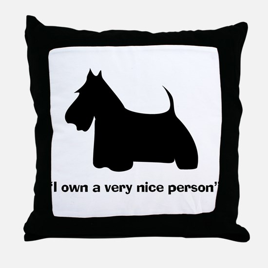 I OWN A VERY NICE PERSON Throw Pillow