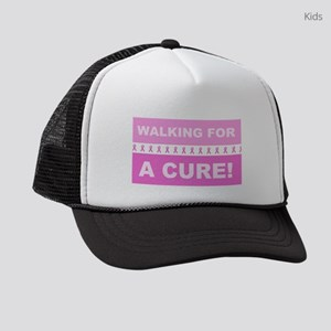 Pink Ribbon Walking for a Cure Kids Trucker hat