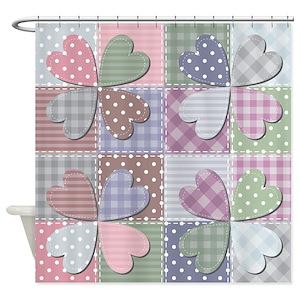Quilt Pattern Shower Curtains