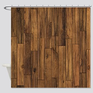 Hardwood Floor Shower Curtain