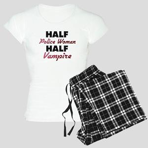 Half Police Woman Half Vampire Pajamas
