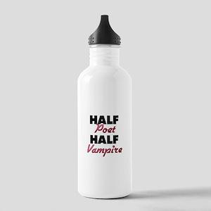 Half Poet Half Vampire Water Bottle