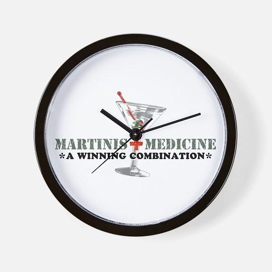 """Martinis & Medicine"" Wall Clock"