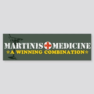 """Martinis & Medicine"" Bumper Sticker"
