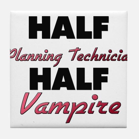Half Planning Technician Half Vampire Tile Coaster