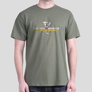 """Martinis & Medicine"" Dark T-Shirt"