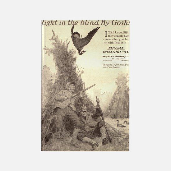 Right in the Blind,by Gosh Rectangle Magnet