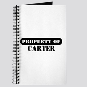 Property of Carter Journal